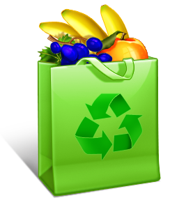 Use your green bags, buy wholefoods and recycle packaging