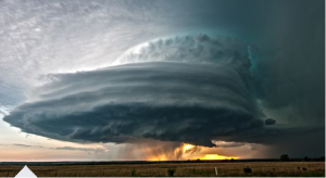 Supercell stormcloud