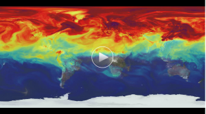 The red swirls in this video are carbon dioxide—most of which is emitted in the Northern Hemisphere.