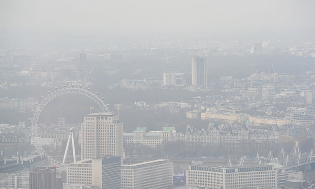 An air pollution episode in London in 2015. There were 9,416 early deaths caused by the pollutants NO2 and PM2.5 in 2010, according to King's College London. Photograph: Nick Ansell/PA