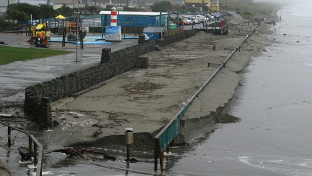 Christchurch's coastline is at high risk of erosion as this 2001 picture of New Brighton beach shows.