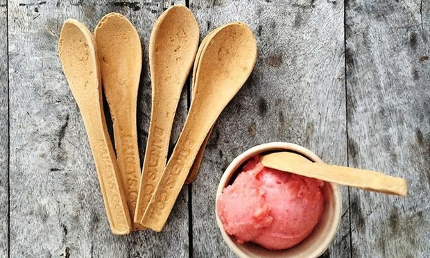 Even if the spoons aren't eaten, once used, they can decompose in a few days. Photograph: Bakeys
