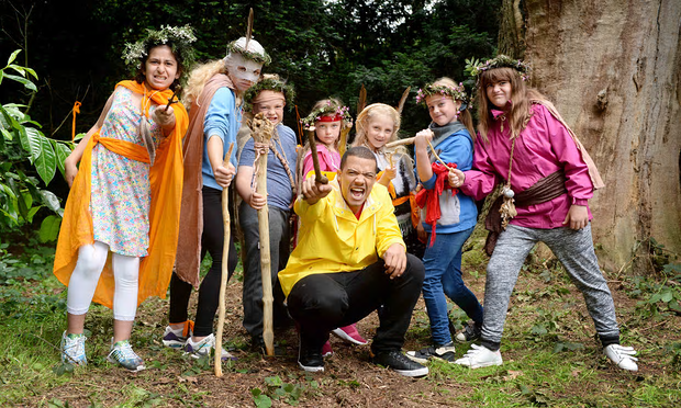 Game of Thrones actor Raleigh Ritchie launches the National Trust campaign to help children engage with the outdoors. Photograph: Doug Peters/PA