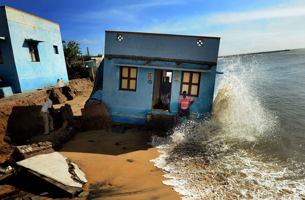 The Atkins built environment award 2016 goes to Indian photojournalist SL Kumar Shanth for 'Losing Ground to Manmade Disaster', which depicts the damage being wrought on the coastline at Chennai, the biggest metropolis in southern India, by a combination of man-made and natural forces.