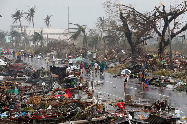 Typhoon Haiyan, known locally as Yolanda, struck in 2013 and was one of the most powerful storms ever recorded. Photograph: Erik de Castro / Reuters/REUTERS