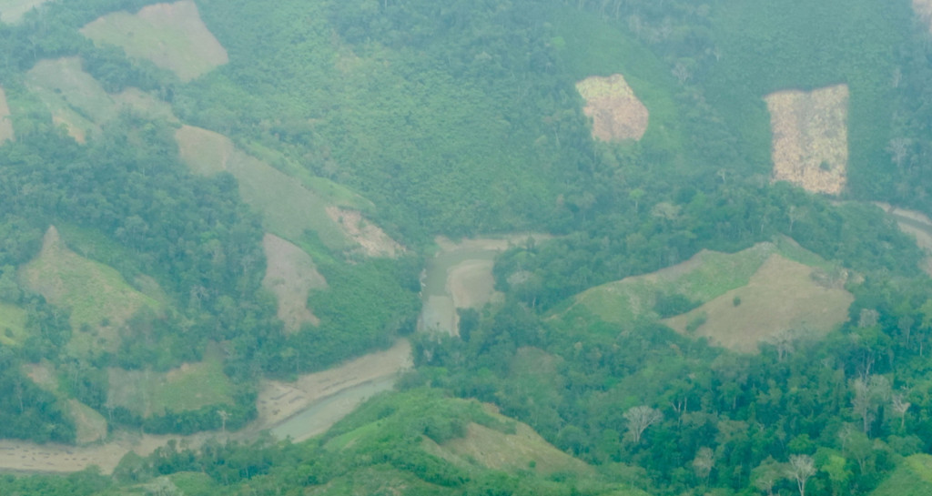 Deforestation in Paramillo National Natural Park in Córdoba department. Overflight in the park. Photo courtesy of SIMCI / UNODC