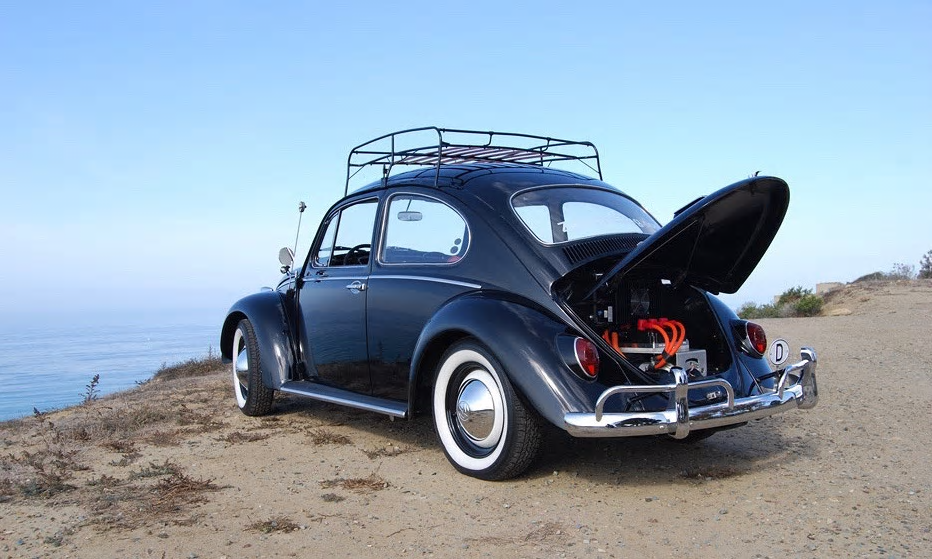 A 1966 VW Beetle retrofitted and electrified by Zelectric Motors. Photograph: Zelectric Motors