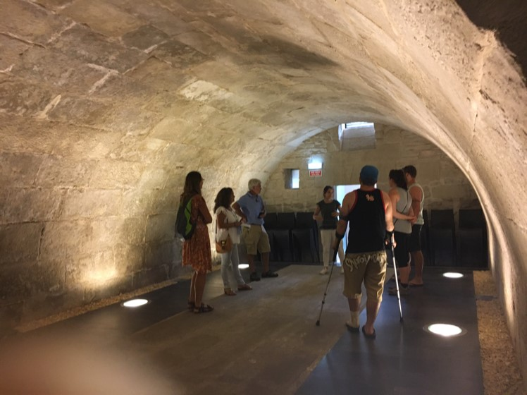 Fascinating underground 16th century cellar where wine was stored to mature