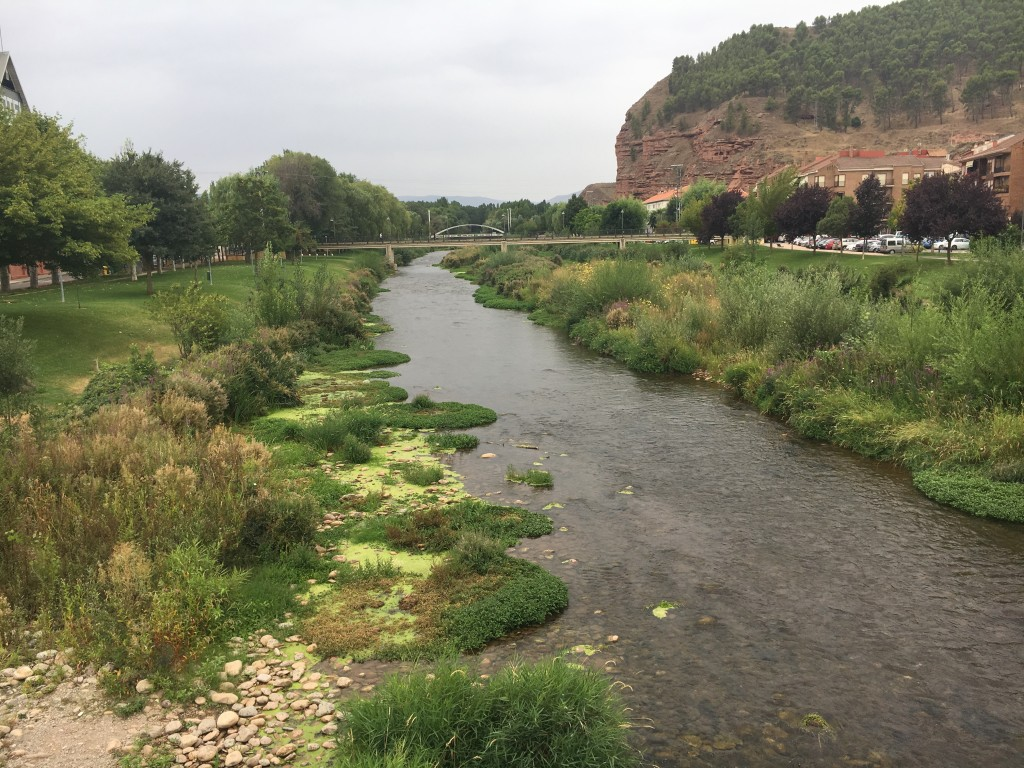 Beautiful natural river coursing through Najera.