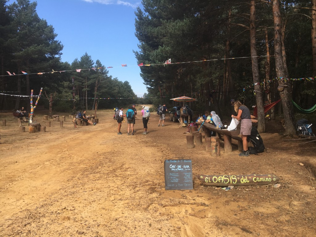 El Oasis Del Camino, a nice place to stop for lunch in the middle of the forest.