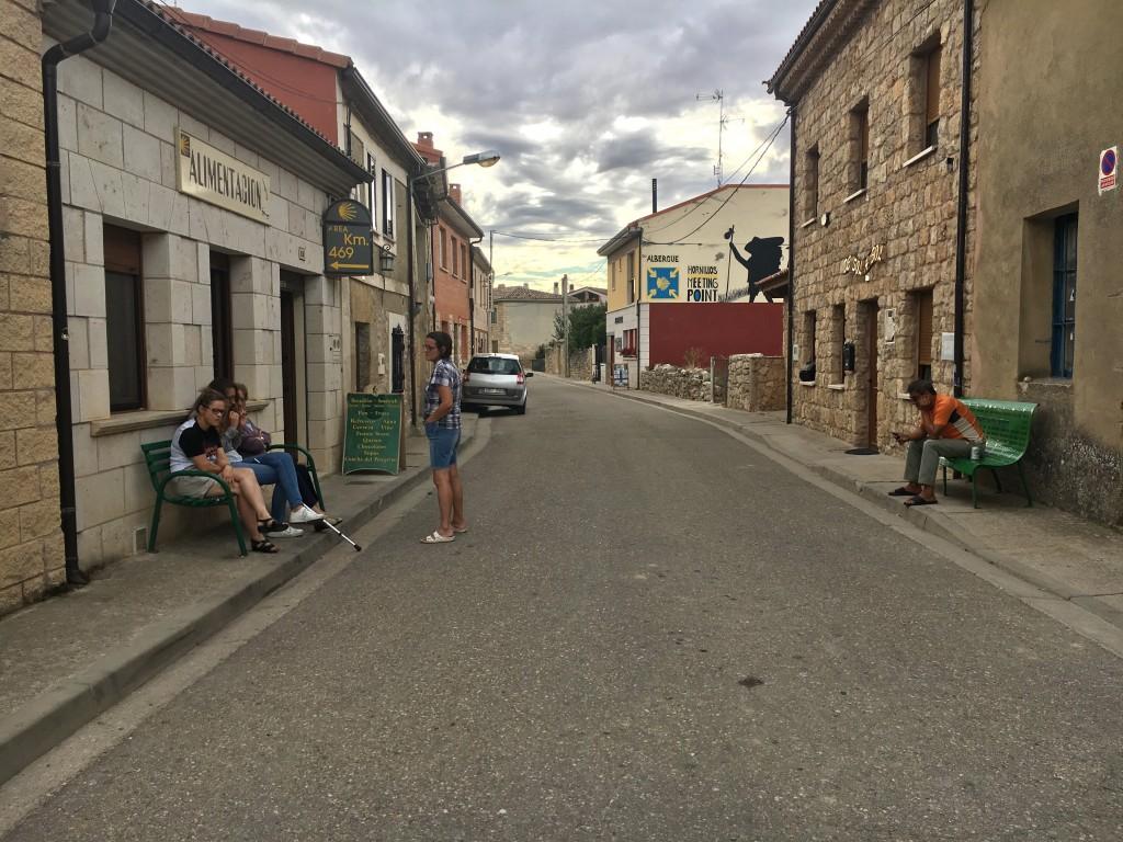 The pretty town of Hornillos del Camino.