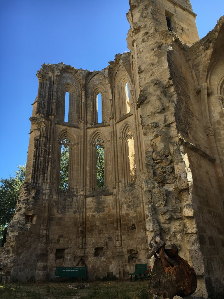 The ruins of the Convent of San Anton. A stunning place including an albergue with ultra-basic facilities.