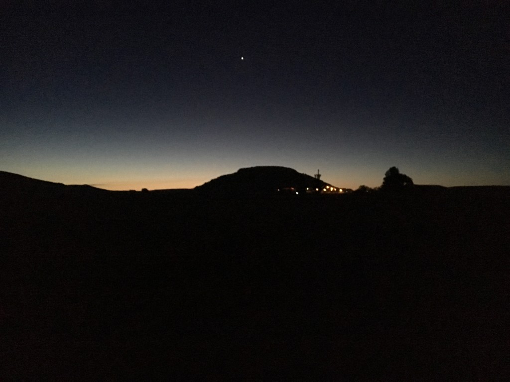 Castrojeriz in the dawn, under the morning star.