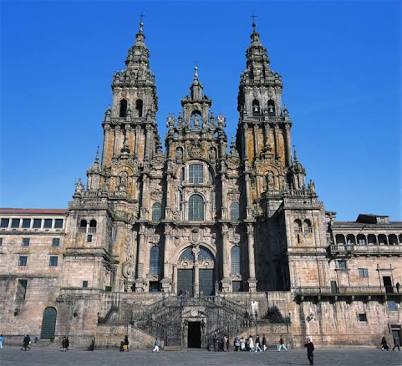 The cathedral at Santiago de Compostela was covered in scaffolding, so this one is sourced from the web.