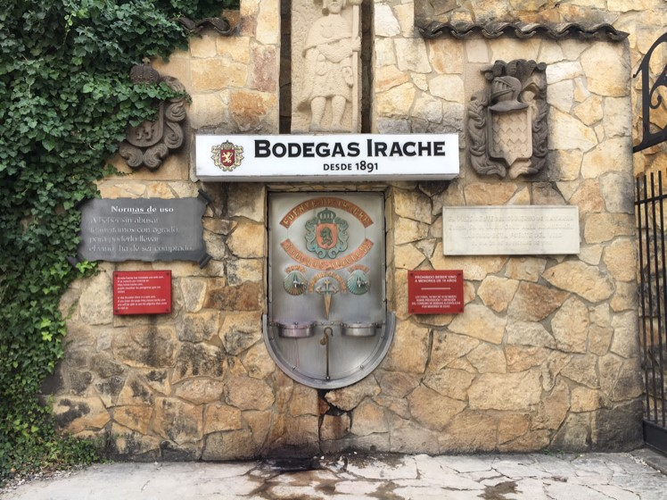 The famous wine fountain, sustaining peregrinos for more than 100 years