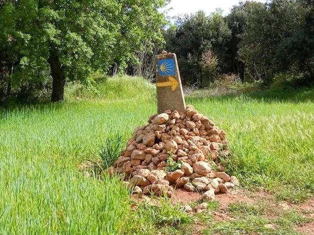 The Camino way sign