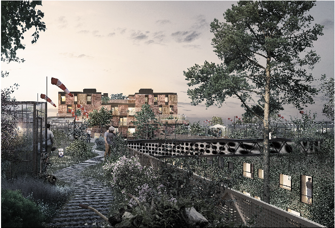 Resource Rows uses walls from abandoned rural dwellings.  Image: Lendager Group