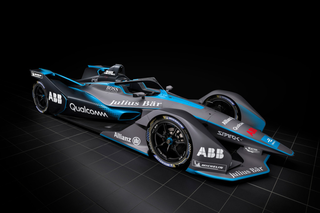 Formula E race car. Courtesy of ABB FIA Formula E
