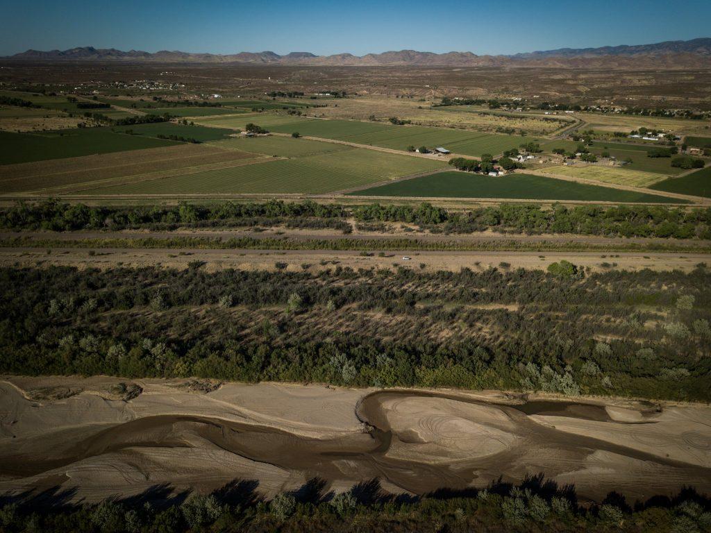 The Rio Grande south of Socorro, N.M.
