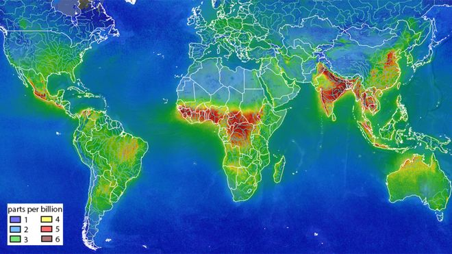 Formaldehyde concentrations across the globe, Nov-2017 to June-2018: The information will help develop policies to improve air quality