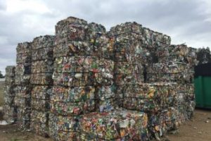 Photo: Recyclable materials are being sent to landfill as local supply dwarfs demand. (ABC Gippsland: Nicole Asher)