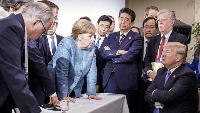 Trump against the world? Jesco Denzel/German Federal Government via AP