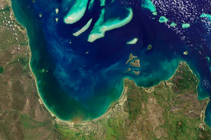 Water quality was a chronic stressor impeding recovery rates. (Supplied: NASA)