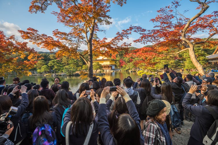 Kyoto: beautiful view, shame about the crowds. Shutterstock