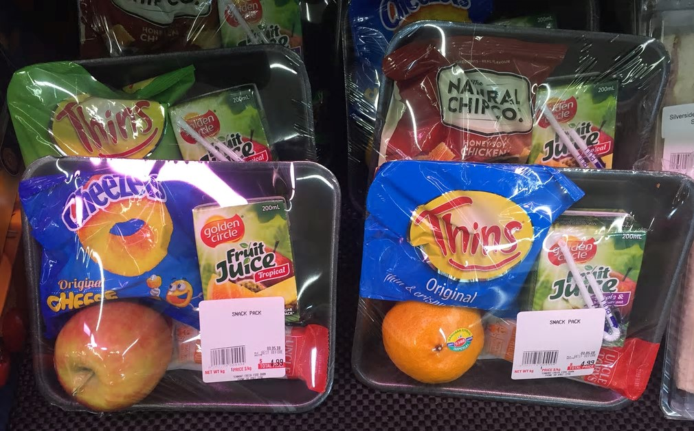 The five food groups: I found these in the fridge at IGA. Photograph: Declan O'Gallagher/Guardian Witness