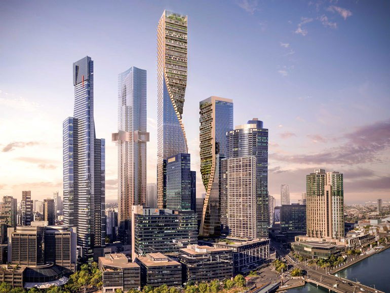 Proposed Melbourne eco-skyscraper, Australia's tallest, dubbed the Green Spine