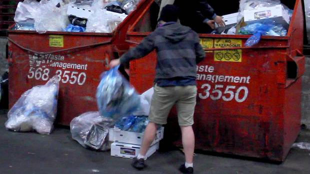 Some dumpster divers say they gather food for families who need it. Photo: Stuff