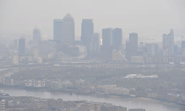 London skyline: people living in the UK are 64 times more likely to die from air pollution than people living in Sweden. Photograph: Nick Ansell/PA