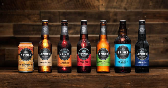 The 4 Pines range of beer