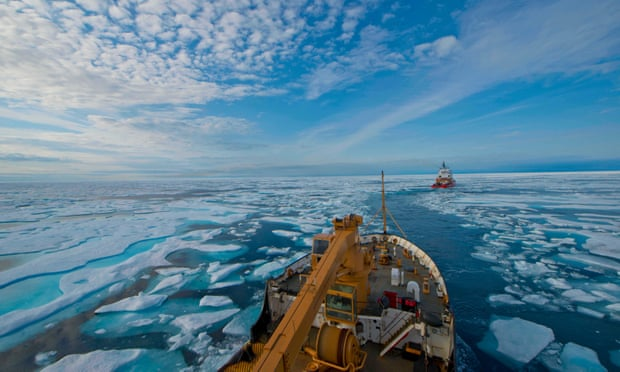 The new ban is one of the first steps to bring legal protection to the Arctic's fragile environment as it opens up to vessels as the climate warms. Photograph: PO2 Nate Littlejohn/USCG/Alamy